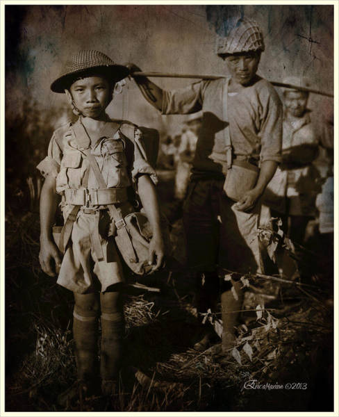 Photograph - Chinese Child Soldiers by Ericamaxine Price
