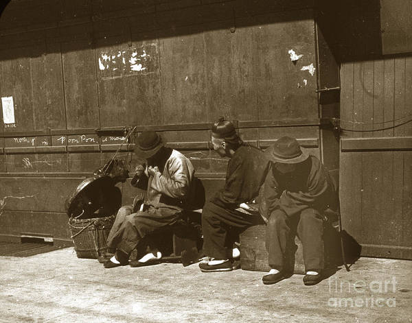 Photograph - Chinese Cobbler San Francisco California Chinatown Circa 1900 by California Views Archives Mr Pat Hathaway Archives