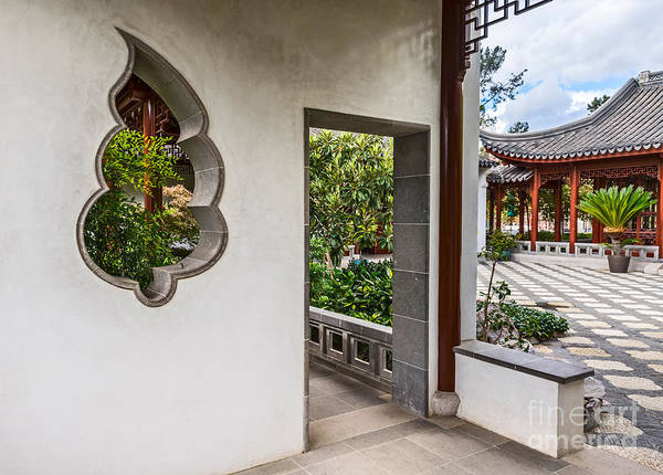 Chinese Pavilion Photograph - Chinese Courtyard by Jamie Pham
