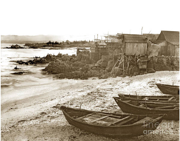 Photograph - Chinese Fishing Village Pacific Grove California  Circa 1890 by California Views Archives Mr Pat Hathaway Archives