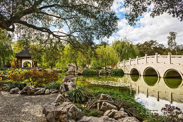 Chinese Pavilion Photograph - Chinese Garden Bridge by Jamie Pham