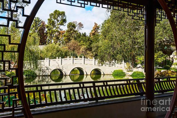 Chinese Pavilion Photograph - Chinese Garden Window by Jamie Pham