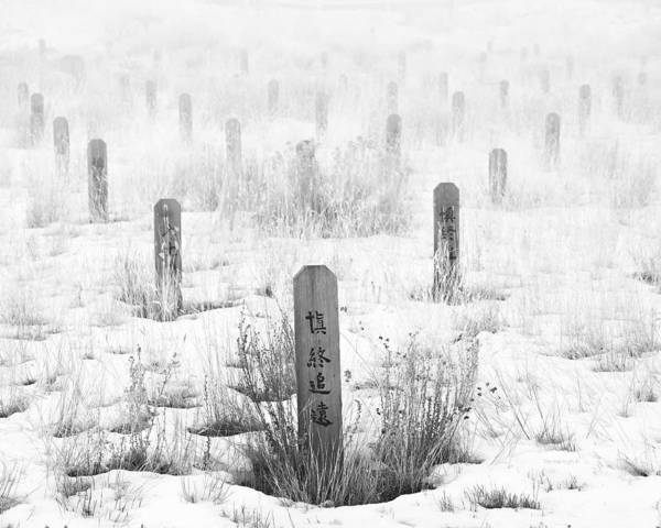 Canadian National Railway Photograph - Chinese Grave Markers by Theresa Tahara