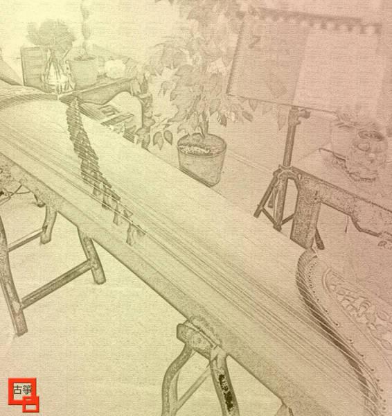 Harp Mixed Media - Chinese Harp by Michelle Hoshino