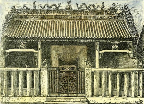 Vietnam Drawing - Chinese House Saigon Vietnam 19th Century by English School