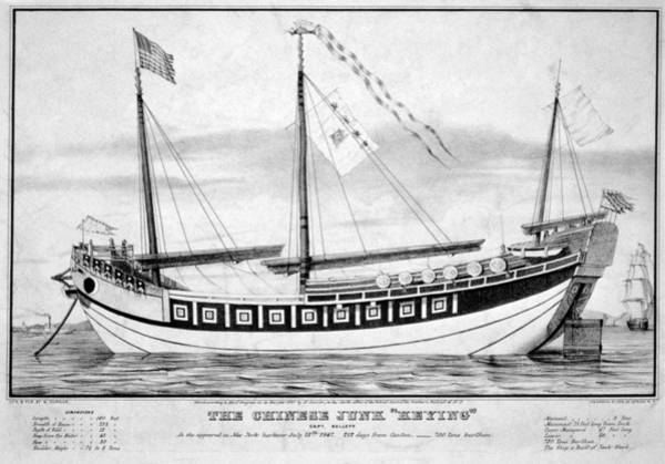 Painting - Chinese Junk, 1847 by Granger