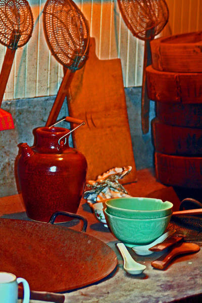 Digital Art - Chinese Kitchen Cookware by Joseph Coulombe