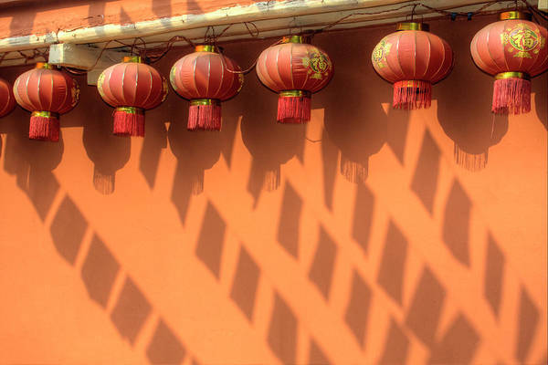 Ethnic Minority Photograph - Chinese Lanterns And Shadows Playing by Darrell Gulin