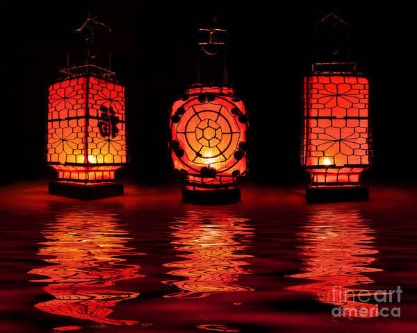 Light Photograph - Chinese Lanterns by Delphimages Photo Creations