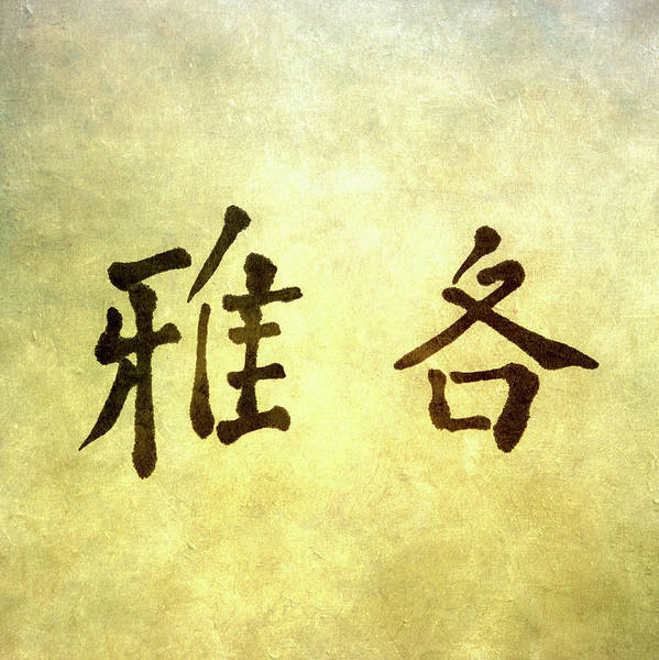 Chinese Language Photograph - Chinese Letters by Peter Chadwick Lrps
