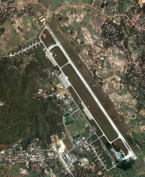 Runway Photograph - Chinese Military Airbase by Geoeye/science Photo Library