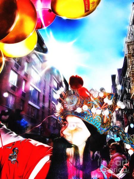 Balloon Festival Digital Art - Chinese New Year by Nishanth Gopinathan