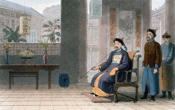 Chinese Drawing - Chinese Of Rank, 1810 by Thomas & William Daniell