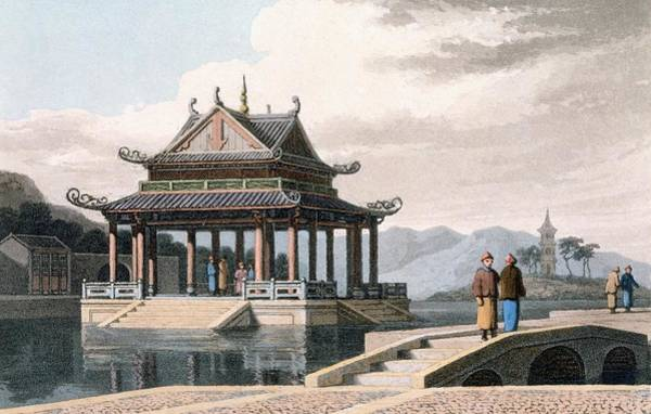 Chinese Drawing - Chinese Pavilion, 1810 by Thomas & William Daniell