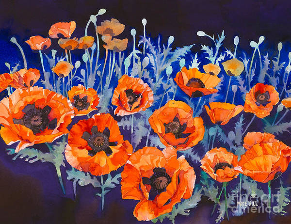 Wall Art - Painting -  Poppies Pleasure And Pain by Mike Hill