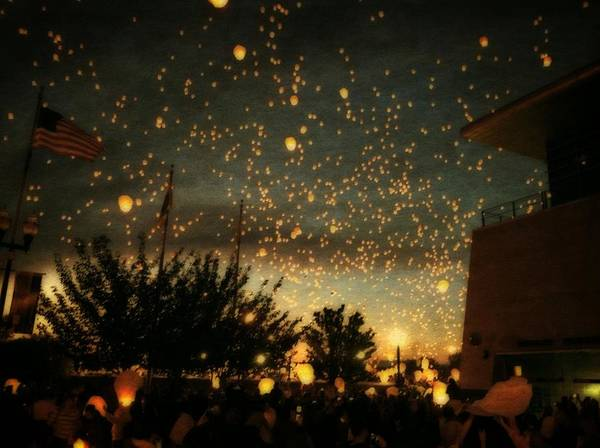 Photograph - Chinese Sky Lanterns by Michelle Calkins