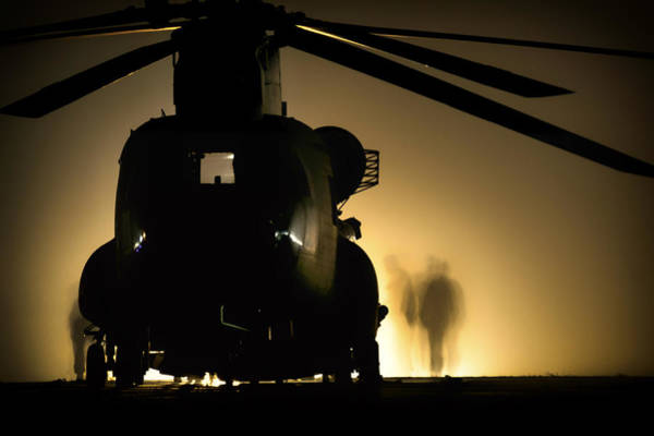 Copter Photograph - Chinook Silhouette by Mountain Dreams
