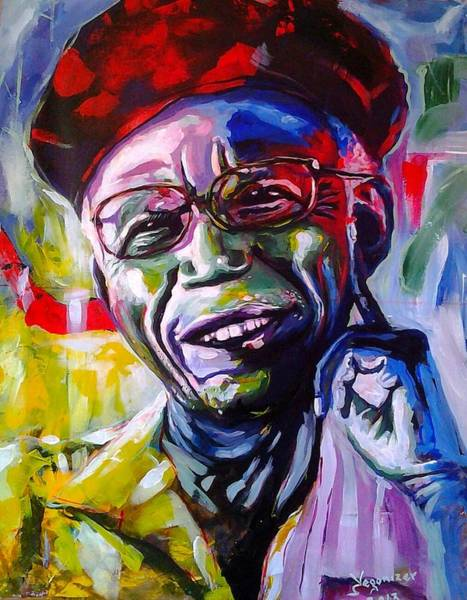 Nigeria Painting - Chinua Achebe by Evans Yegon