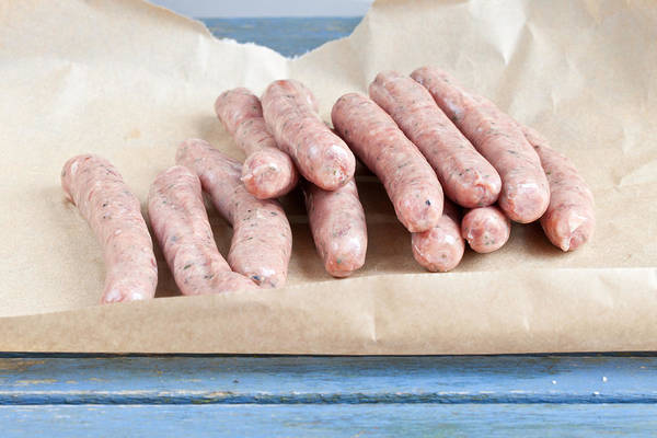 Barbeque Photograph - Chipolatas by Tom Gowanlock