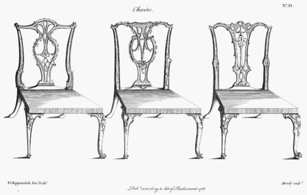 Photograph - Chippendale Chairs, 1753 by Granger