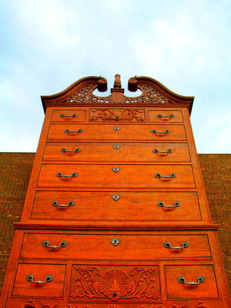 Chest Of Drawers Photograph - Chippendale Chest Of Drawers by Randall Weidner