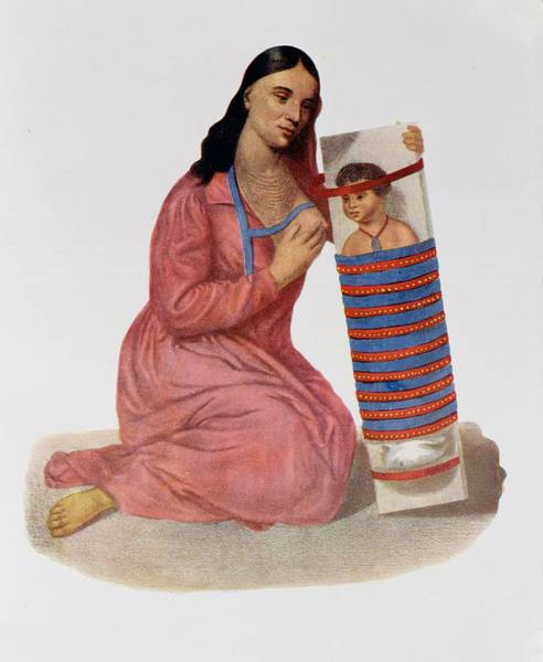 Tribe Photograph - Chippeway Mother And Child, 1826, Illustration From Indian Tribes Of North America, Vol.1 by James Otto Lewis