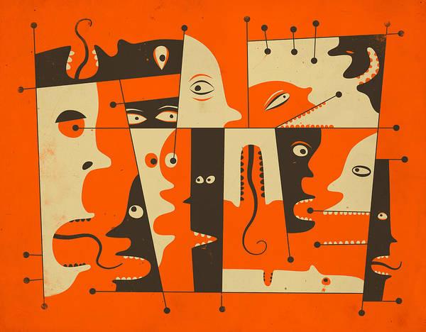 Pop Surrealism Wall Art - Digital Art - Chit Chat by Jazzberry Blue