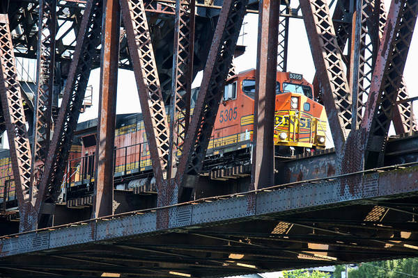 Photograph - Chittenden Locks Railroad Bridge by Steven Lapkin