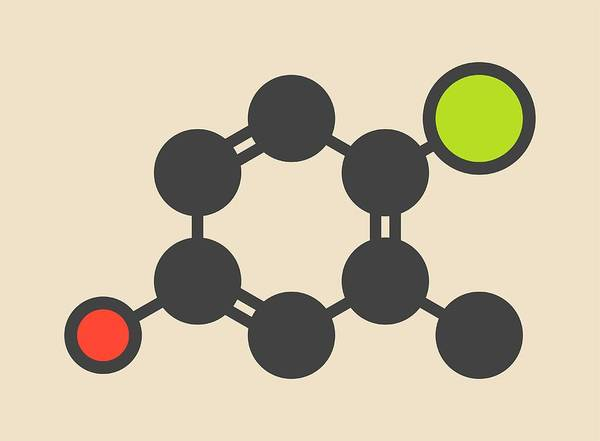 Preservative Wall Art - Photograph - Chlorocresol Antiseptic Molecule by Molekuul