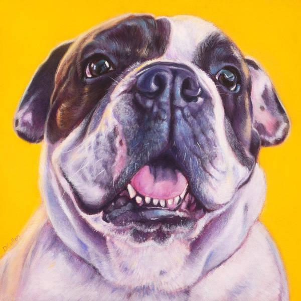 English Bulldog Painting - Choba  by Deborah Cullen