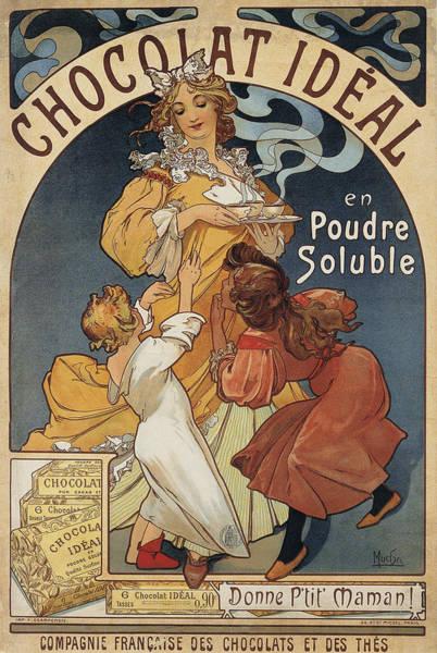 Drawing - Chocolat Ideal by Alphonse Mucha