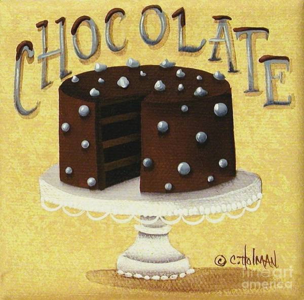 Icing Painting - Chocolate Cake by Catherine Holman