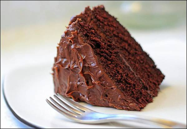 Slice Photograph - Chocolate Cake by Susan Thompson Photography
