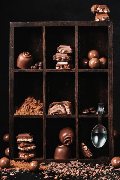 Shelves Photograph - Chocolate Collection by Dina Belenko