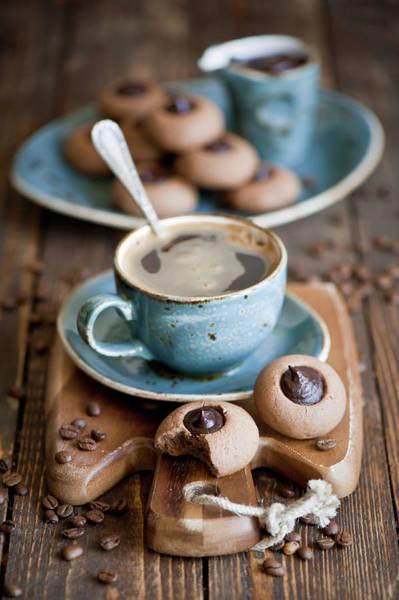 Super Cup Wall Art - Photograph - Chocolate Cookies by Verdina Anna
