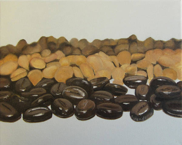 Wall Art - Painting - Chocolate Covered Coffee Beans by Cecilia Brendel
