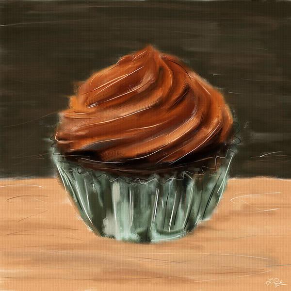 Dessert Digital Art - Chocolate Cupcake by Lourry Legarde