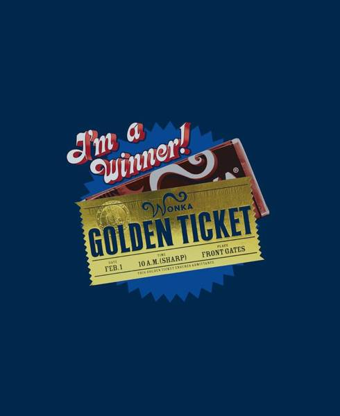 Tim Burton Wall Art - Digital Art - Chocolate Factory - Golden Ticket by Brand A