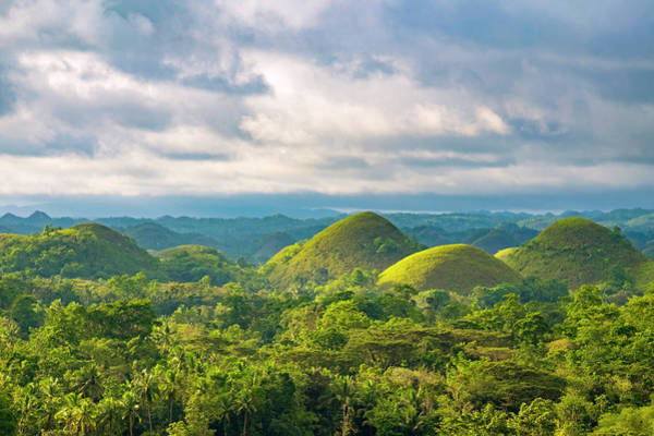 Awe Photograph - Chocolate Hills In Late Afternoon by Jason Langley