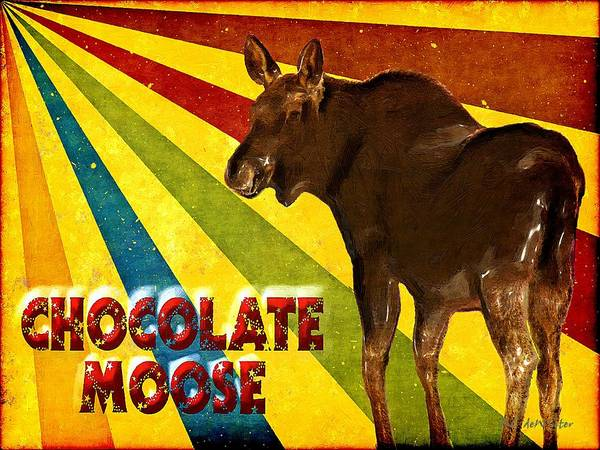 Painting - Chocolate Moose by RC DeWinter