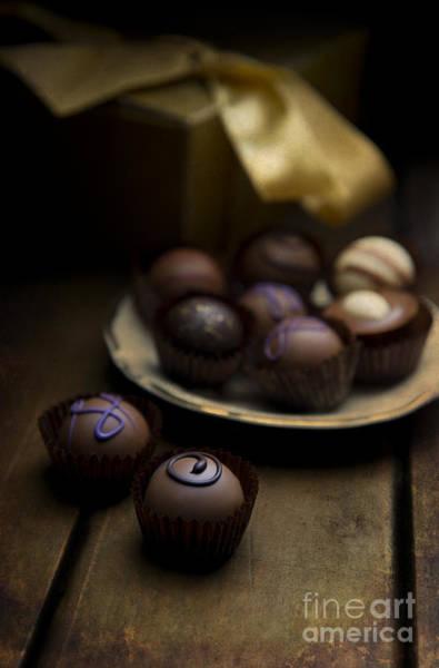 Knot Hole Photograph - Chocolate Pralines by Jaroslaw Blaminsky