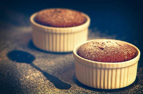 Sponge Photograph - Chocolate Souffles by Amanda Elwell