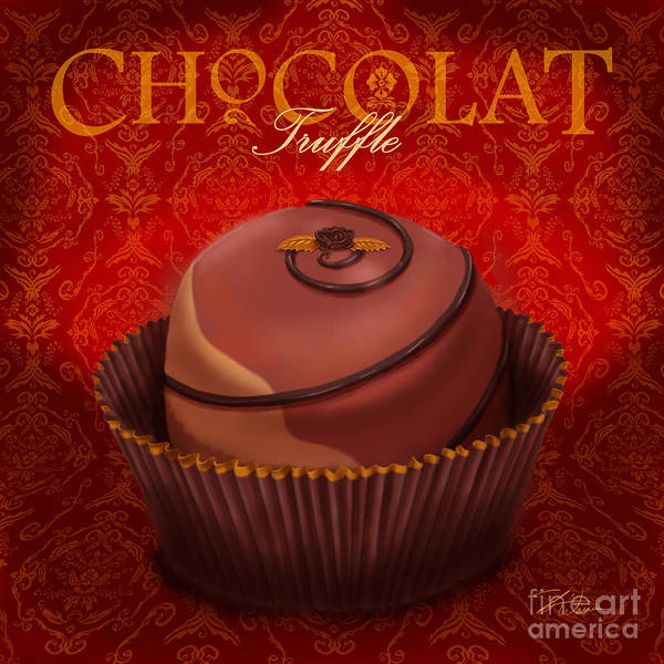 Wall Art - Mixed Media - Chocolate Truffle by Shari Warren