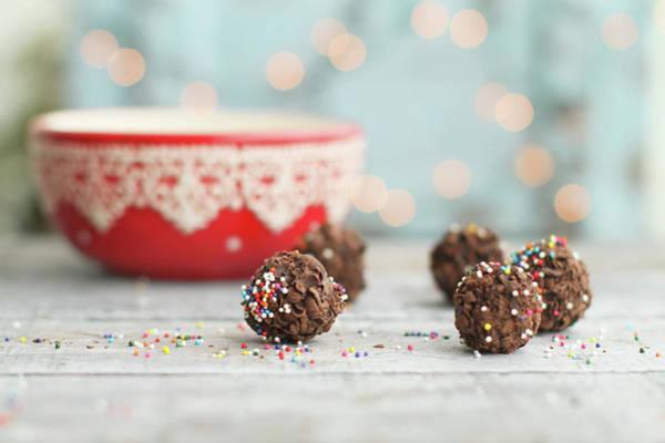 Sprinkles Photograph - Chocolate Truffles by By Lili Ana