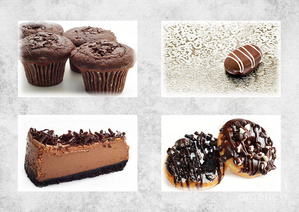 Photograph - Choice Of Chocolate 4 X 4 Collage 1 - Bakery Sweets Shoppe by Andee Design