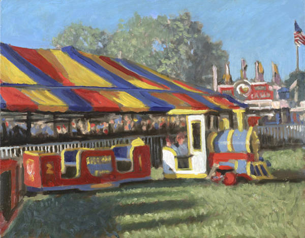 County Fair Painting - Choochoo Charlies by David Zimmerman