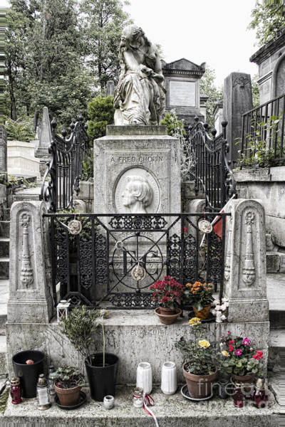 Photograph - Chopin's Grave by Crystal Nederman