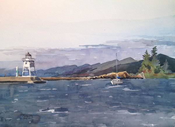Lake Superior Painting - Choppy Waters Grand Marais by Spencer Meagher