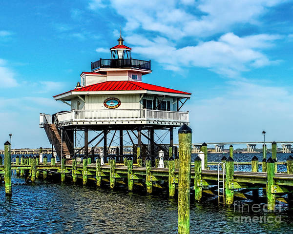 Photograph - Choptank Lighthouse Maryland by Nick Zelinsky