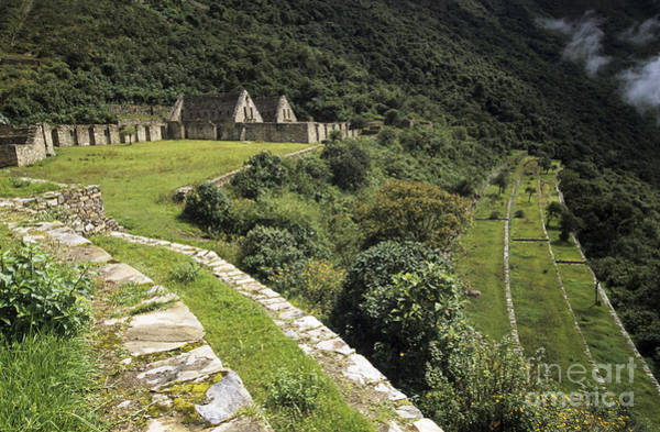 Photograph - Choquequirao Inca Terraces by James Brunker